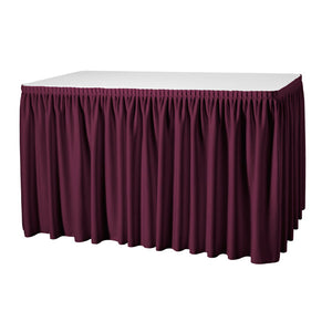 Skirting Samt trabiert / bordeaux - B 500 x H 040 cm