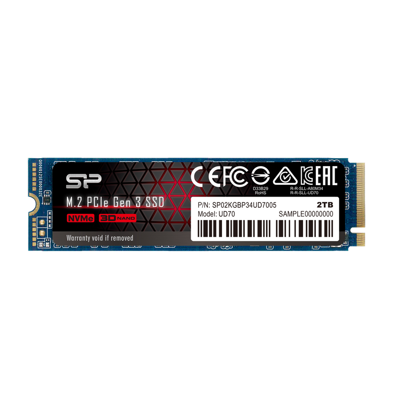 Silicon Power UD70 2TB PCIe Gen3x4 M.2 2280 Internal Solid State Drive