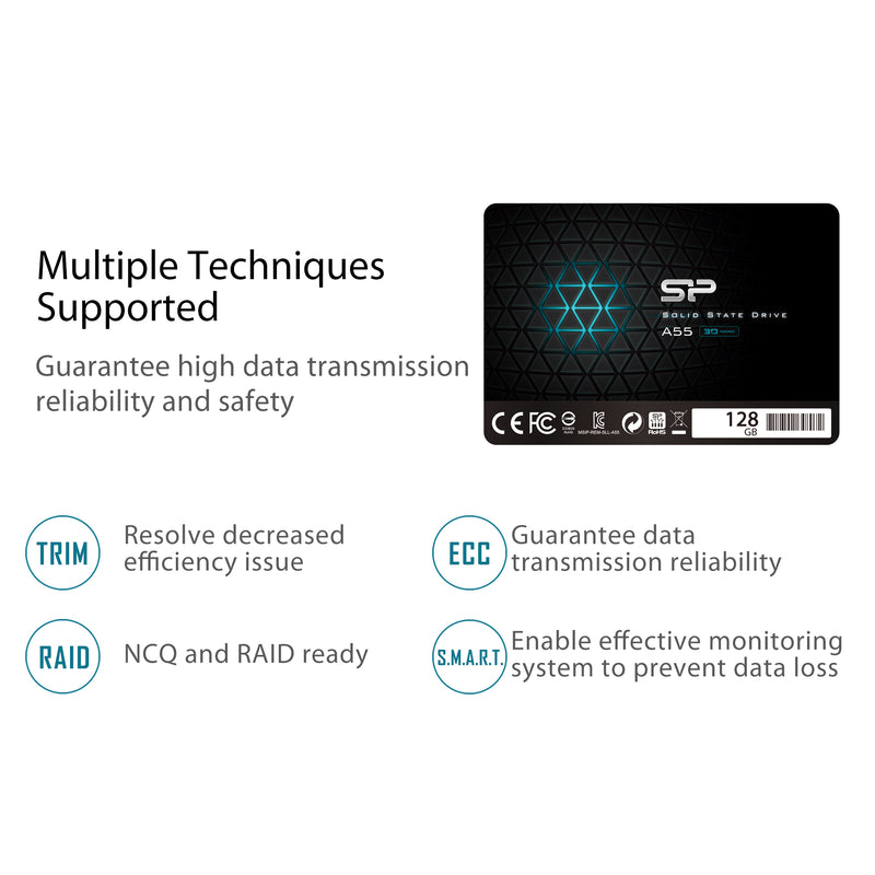A55 128GB-2TB TLC SATA III 2.5-inch Internal Solid State Drive [Bulk Package]