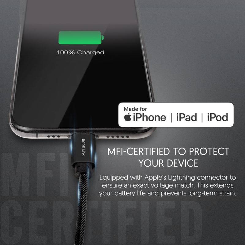 USB C to Lightning Cable Apple MFi Certified, Supports Power Delivery for Apple Devices [Retail Package]