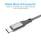 Silicon Power Micro USB 3.3 FT (1M) Nylon Charging Cable-Black