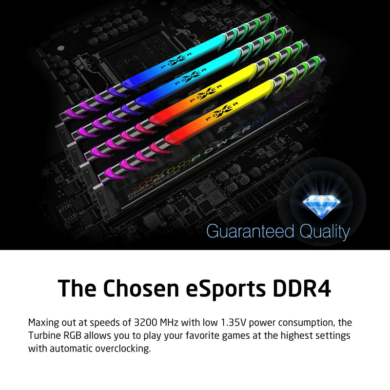 XPOWER RGB Turbine Gaming DDR4 3200MHz (PC4 25600) 16GB(8GBx2)-32GB(16GBx2) Dual Pack 1.35V Desktop Unbuffered DIMM [Retail Package]
