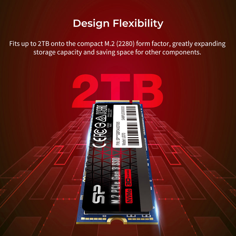 Silicon Power UD70 500GB PCIe Gen3x4 M.2 2280 Internal Solid State Drive