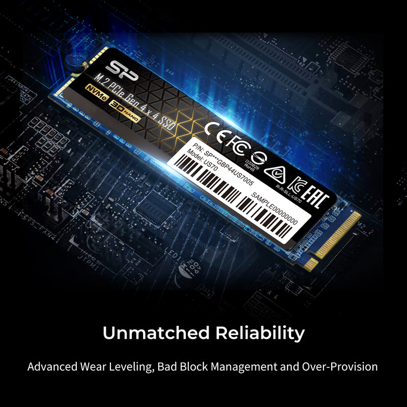 US70 1TB-2TB PCIe Gen4x4 M.2 2280 Internal Solid State Drive [Retail Package]