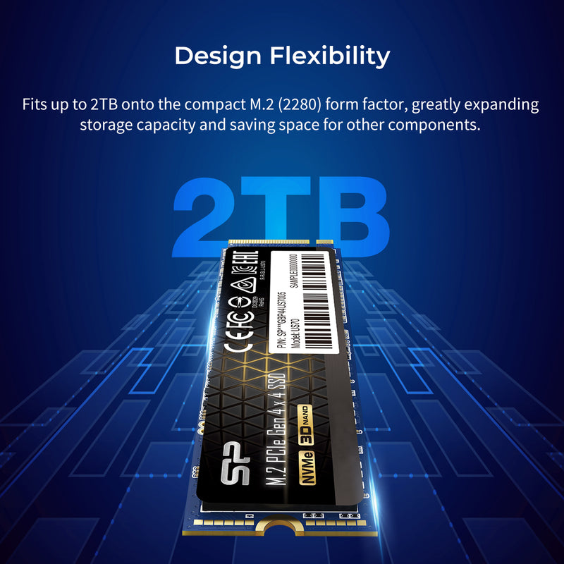 Silicon Power US70 1TB PCIe Gen4x4 M.2 2280 Internal Solid State Drive