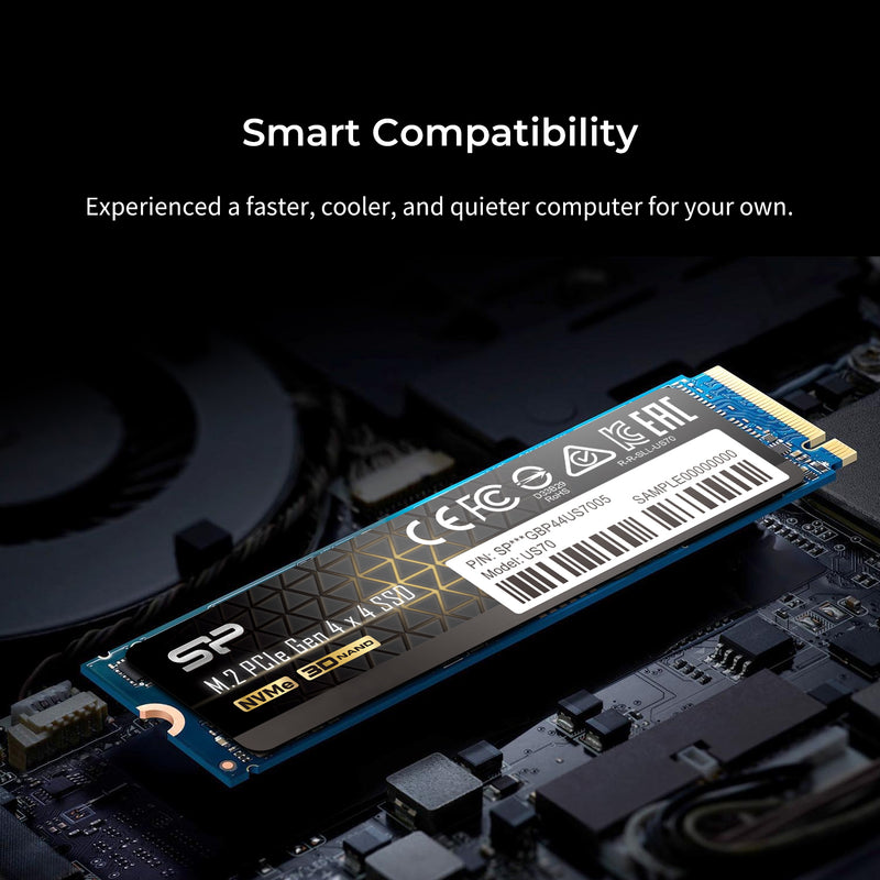 Silicon Power US70 2TB PCIe Gen4x4 M.2 2280 Internal Solid State Drive