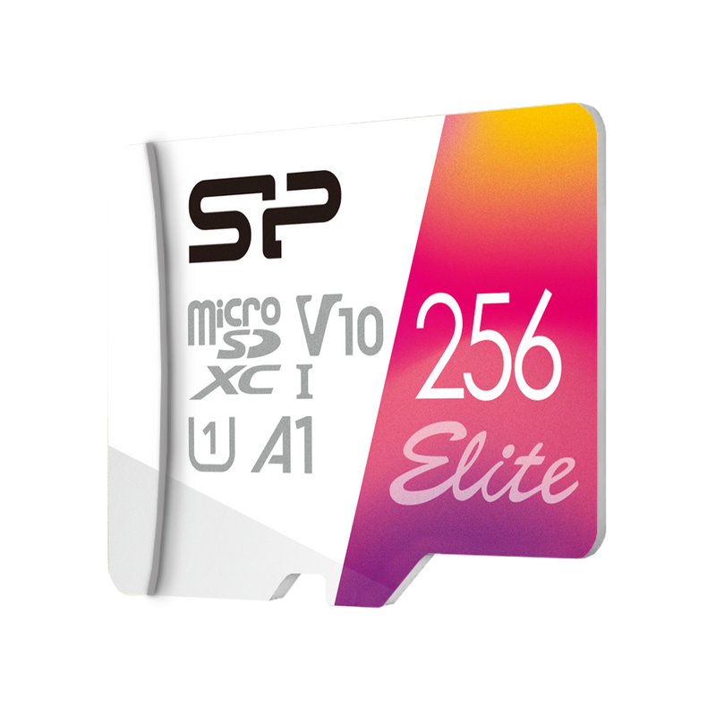 Silicon Power 64GB-256GB Elite UHS-1(U1) A1 MicroSD Memory Card with Adapter
