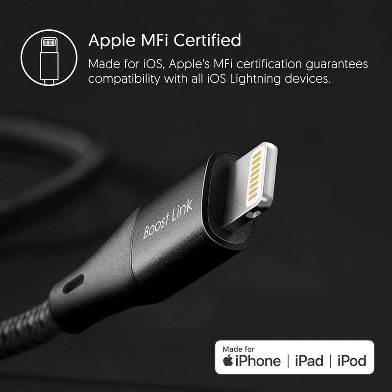 Silicon Power Lightning Cable 3.3 FT (1M) for iPhone-Black