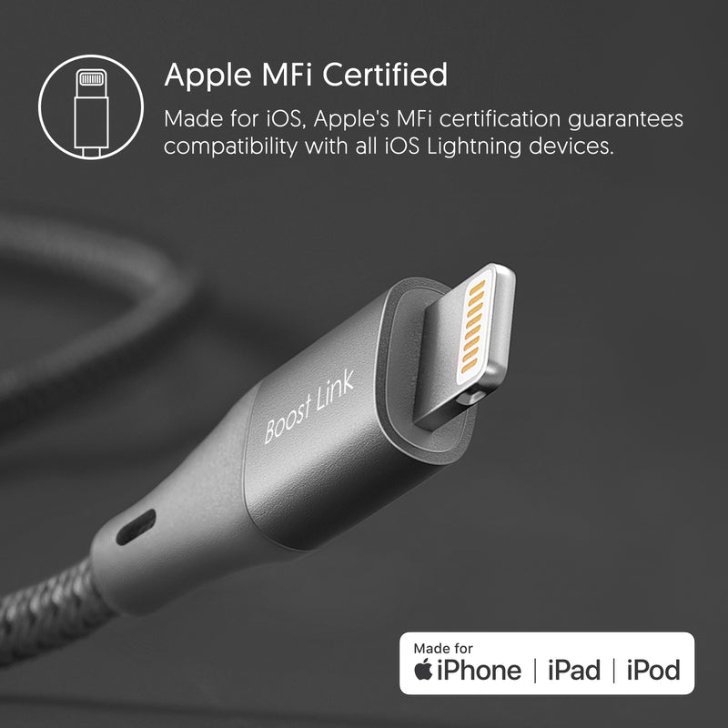 Silicon Power Lightning Cable 3.3 FT (1M) for iPhone-Gray