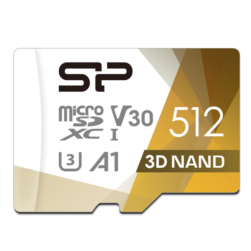 64GB-512GB Superior UHS-1(U3) V30 A1 MicroSD Memory Card with Adapter [Retail Package]