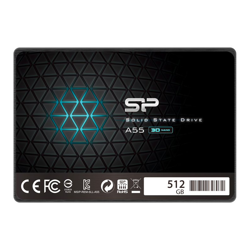 Silicon Power A55 512GB TLC SATA III 6Gb/s 2.5-inch Internal Solid State Drive