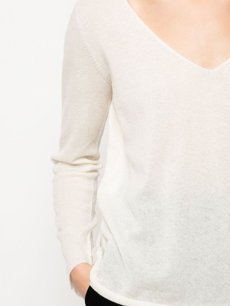Cashmere L/S V-Neck Sweater