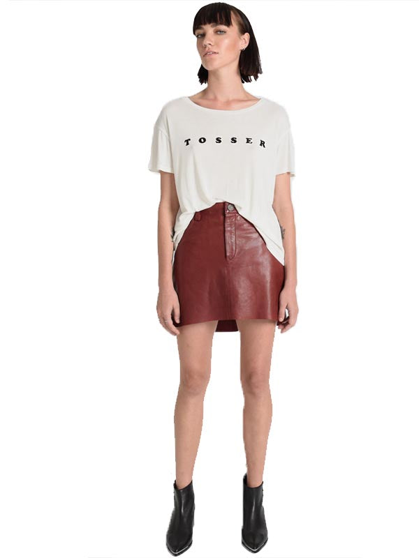 Leather 2020 Mini Skirt
