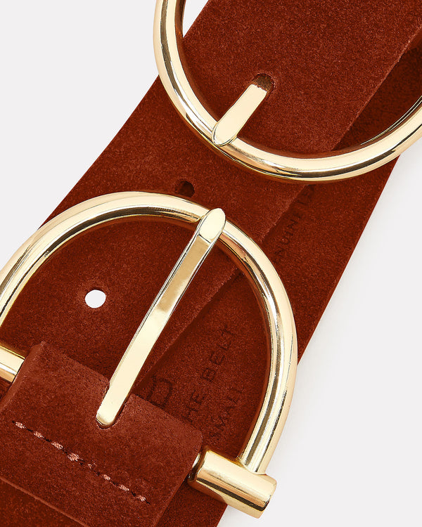Blake Double Buckle Mini Suede Belt