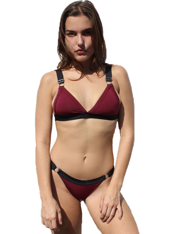 Lenny Bottom in Burgundy
