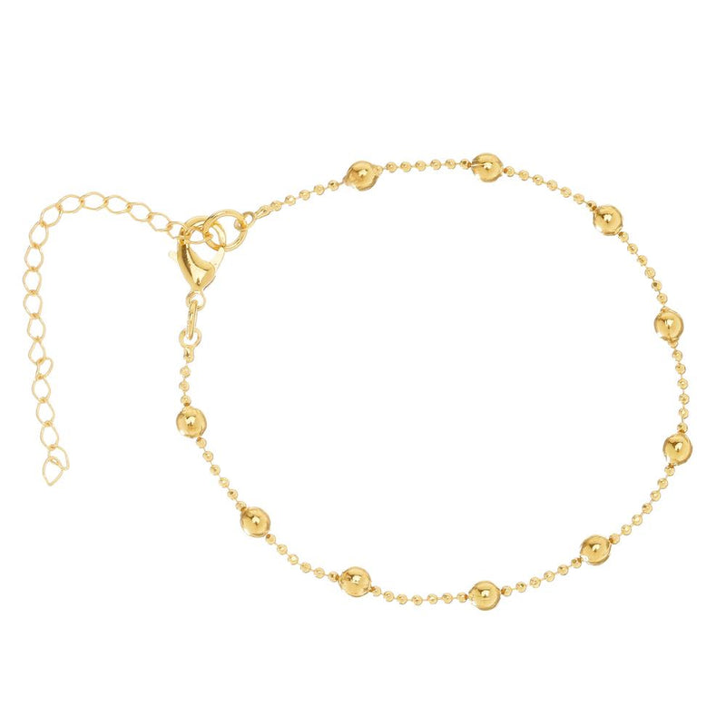 viviana dontanon gold plated large beaded bracelet