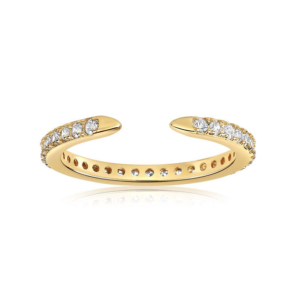 viviana dontanon gold plated micropave cuff ring
