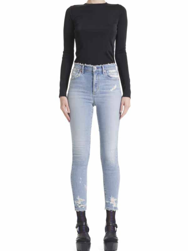 Agolde sophie crop high rise skinny in vertigo