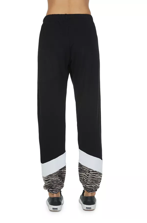 Billy Joe Chevron Color-Block Sweatpants