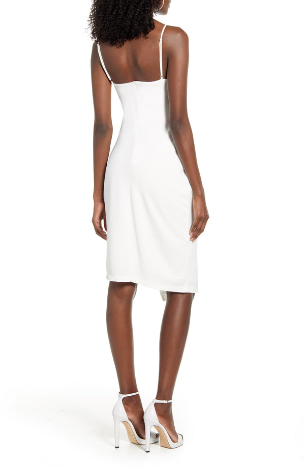 4Si3nna aerin rouched dress in white