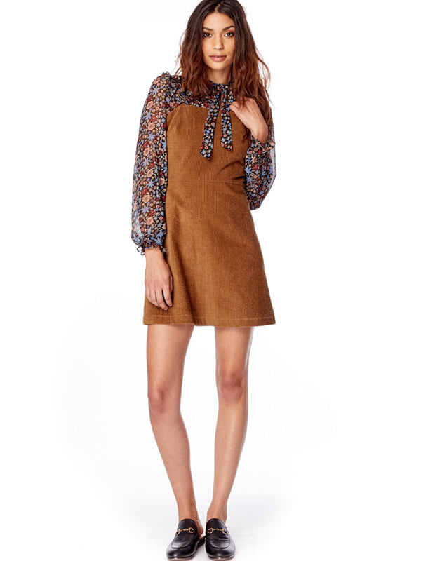 Alicia Mini Dress in Mocha
