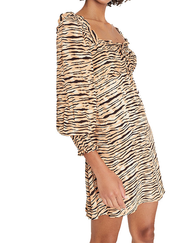 Ira Mini Dress in Wyldie Animal Print