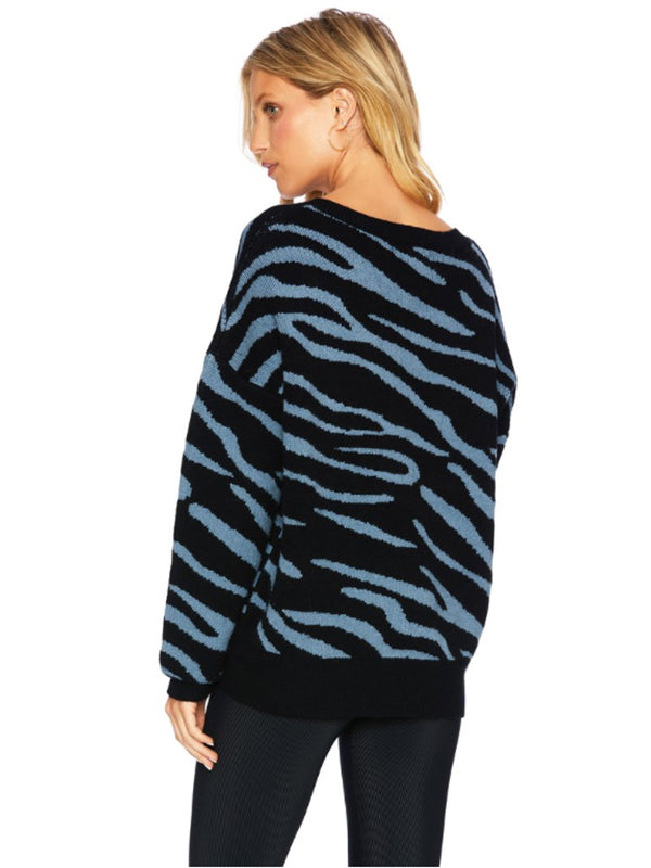 Joey Sweater Slate Zebra