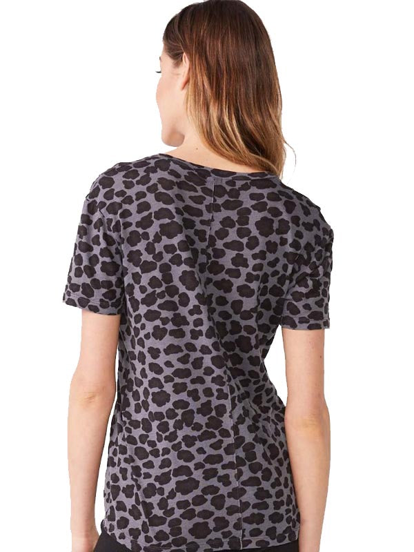 Leopard Relaxed V neck