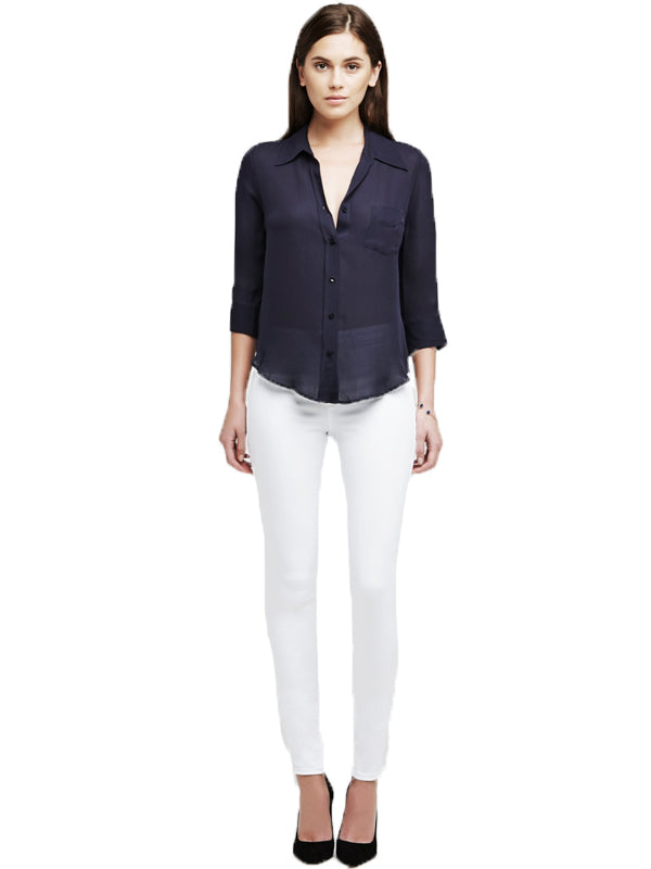 Marguerite High Rise Skinny in Blanc