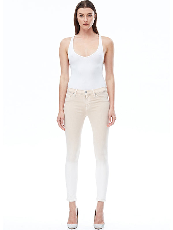 Nico Midrise Ankle Super Skinny in Brushed Champagne Rose