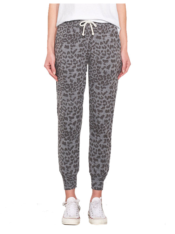 Leopard Jogger with Piping