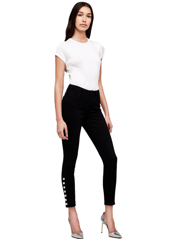 Piper High Rise Skinny Jean in Saturated Black
