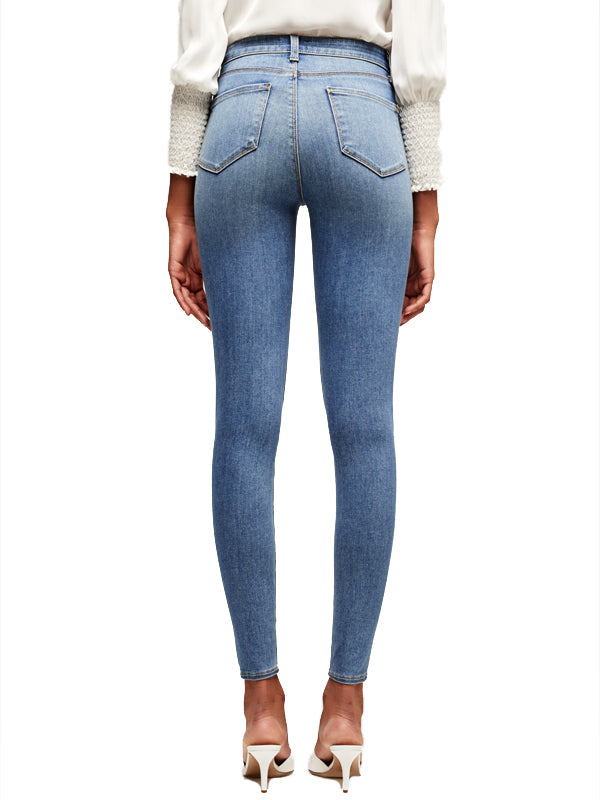 Marguerite High Rise Skinny in Seafoam