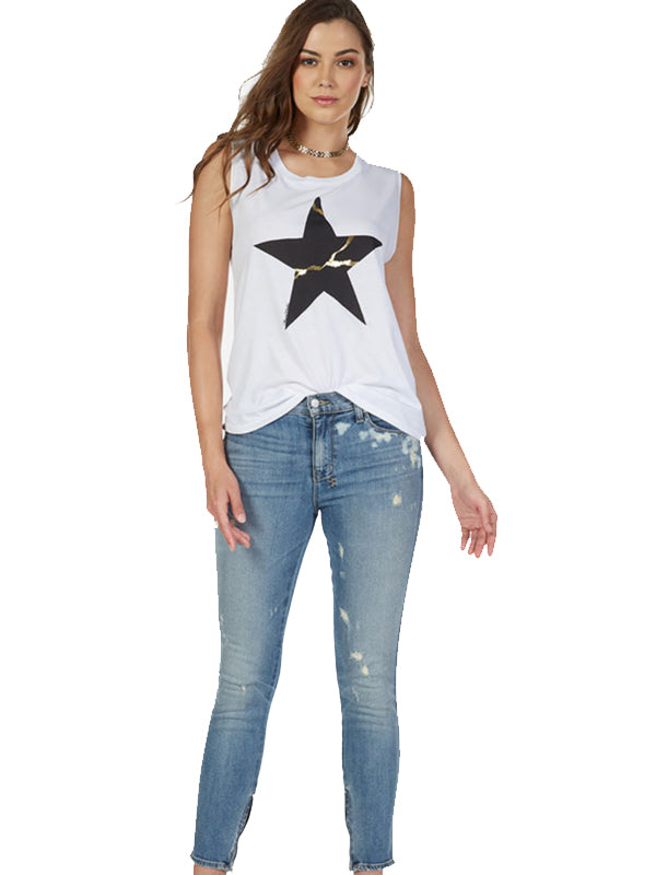 Sibley Scoop Neck Muscle Tank Cracked Star