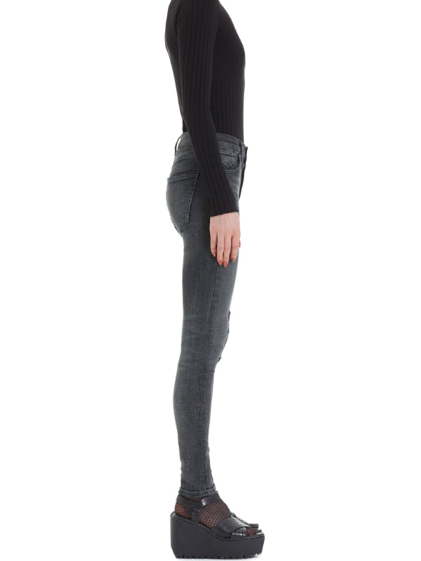 agolde sophie hi rise skinny in silence