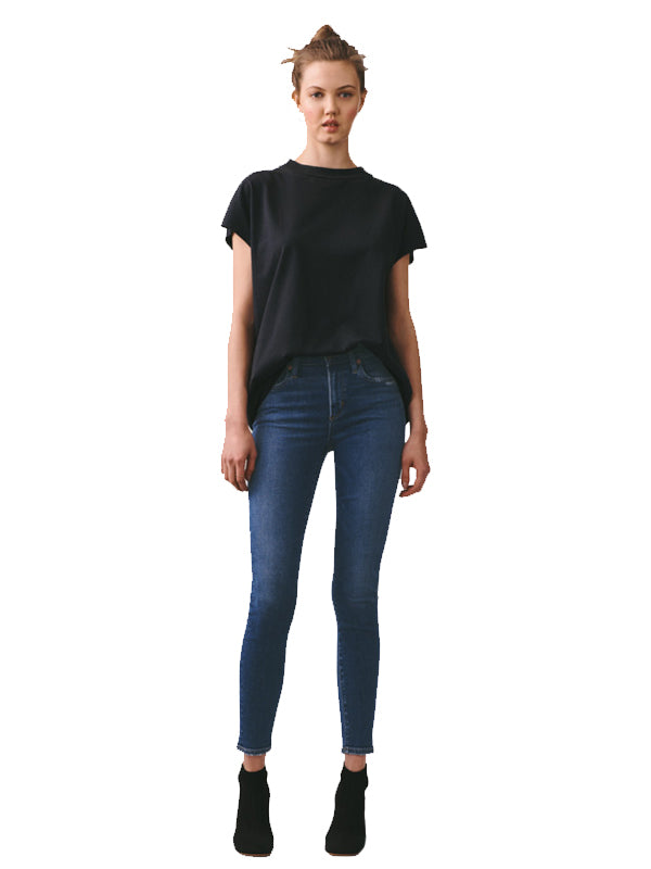 Agolde Sophie Mid Rise Skinny Ankle in Tame dark wash
