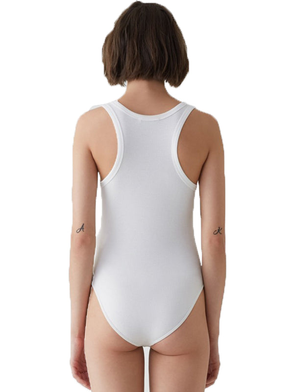 Agolde Rib Tank Bodysuit in white