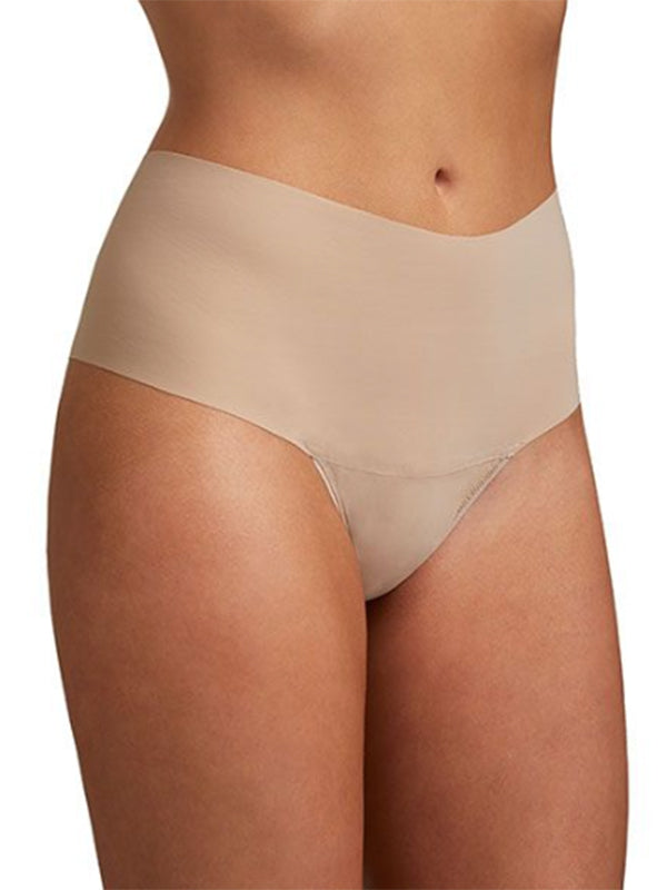 Breathe Hi-Rise Thong in Taupe