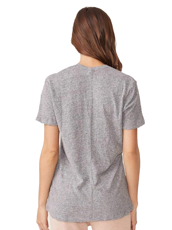 Textured Tri-Blend Relaxed V Neck Tee
