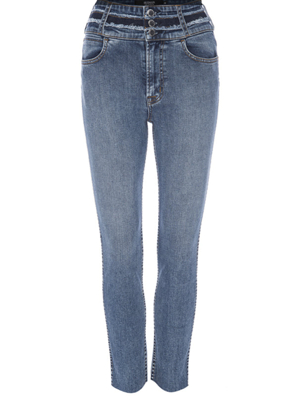 Vintage Holly High Rise Crop Skinny in Light Temple