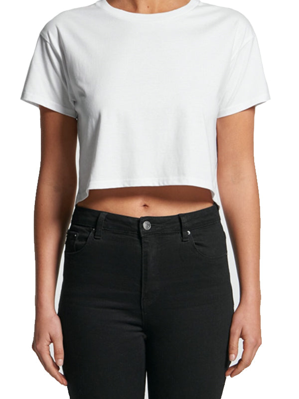 Crop Tee in White
