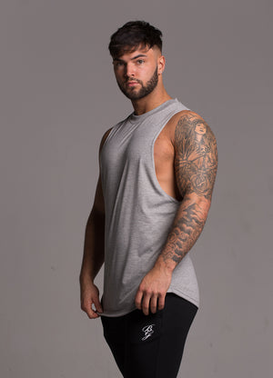 Lifestyle Cut Off Tee - Grey