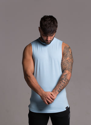 Lifestyle Cut Off Tee - Sky Blue
