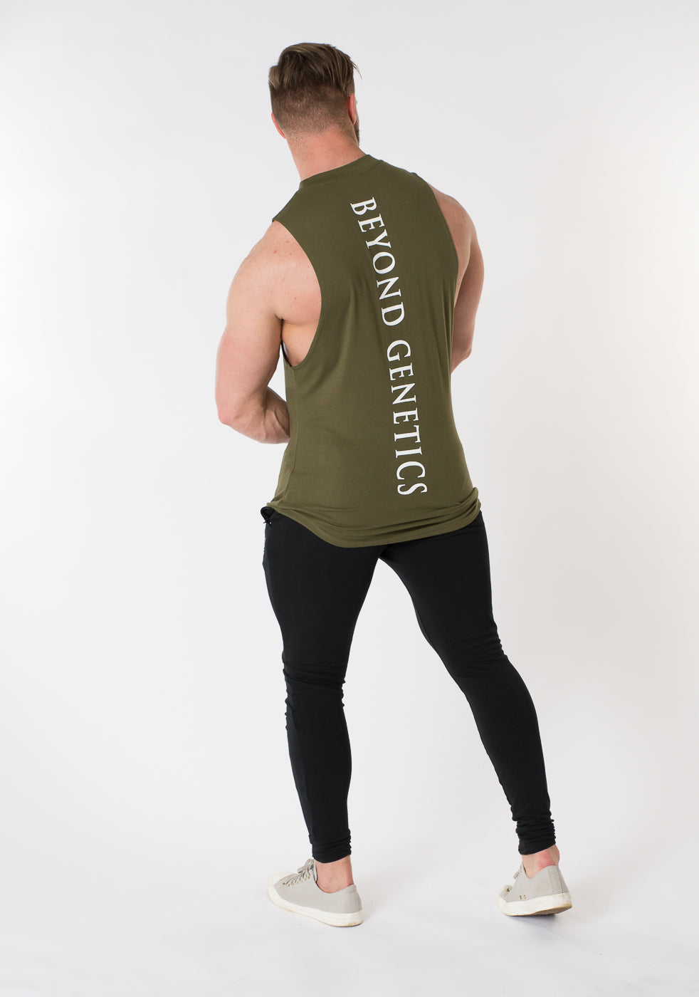 Cut Off Tee - Olive