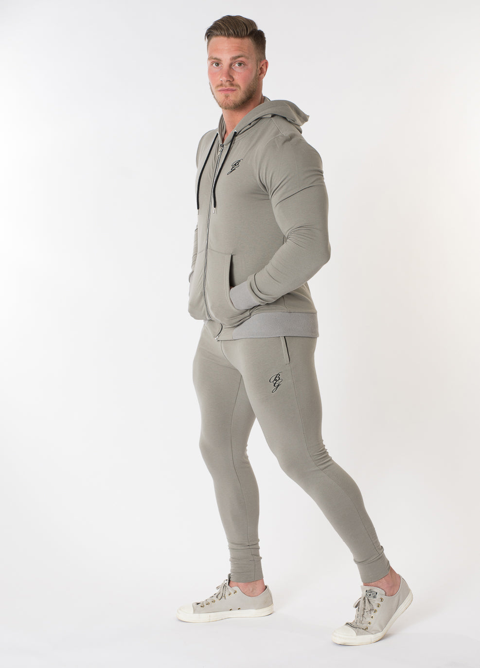 Stealth Zip Up Hoody - Grey