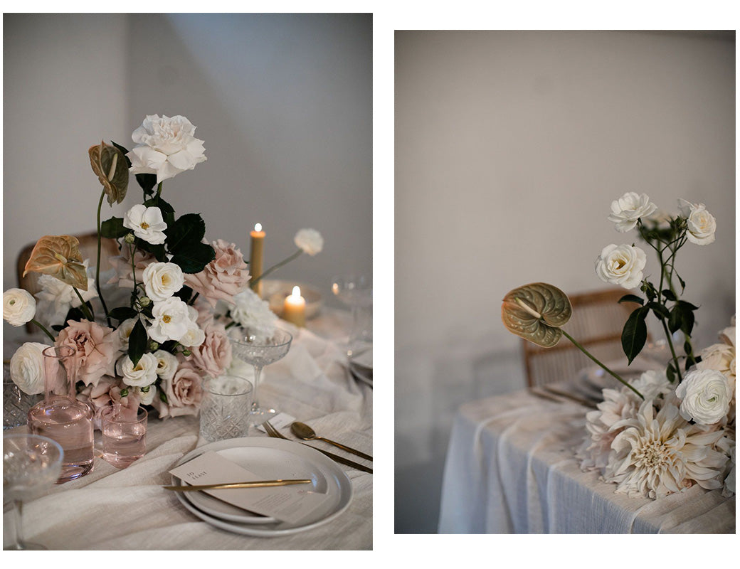 Creating a floral tablepiece | For Love and Living Gold Coast Event Stylist