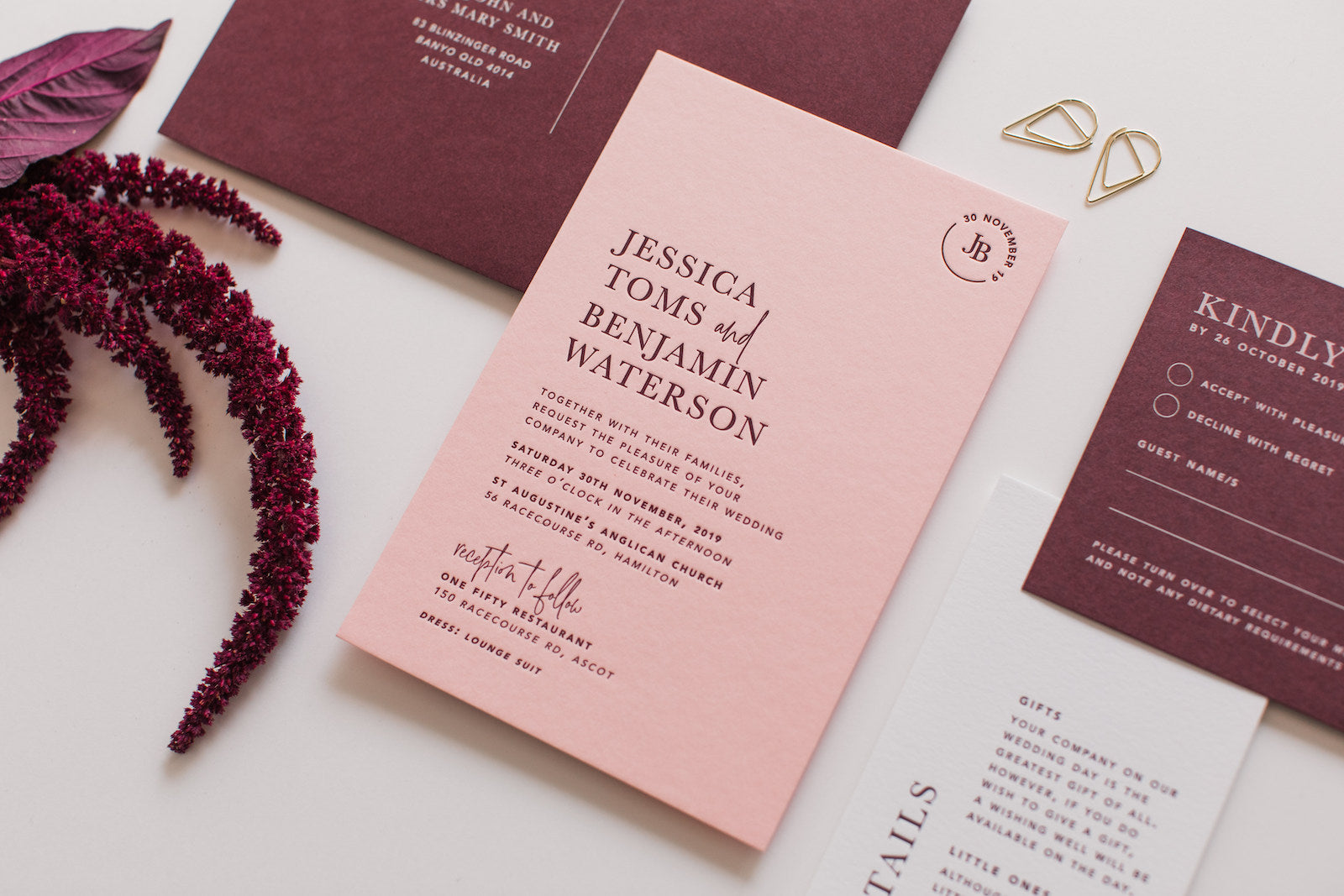 wedding invitations with details