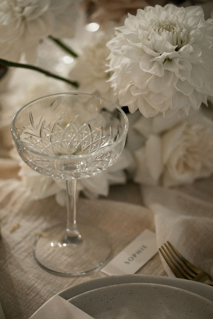 Champagne Coupe Cut Glass