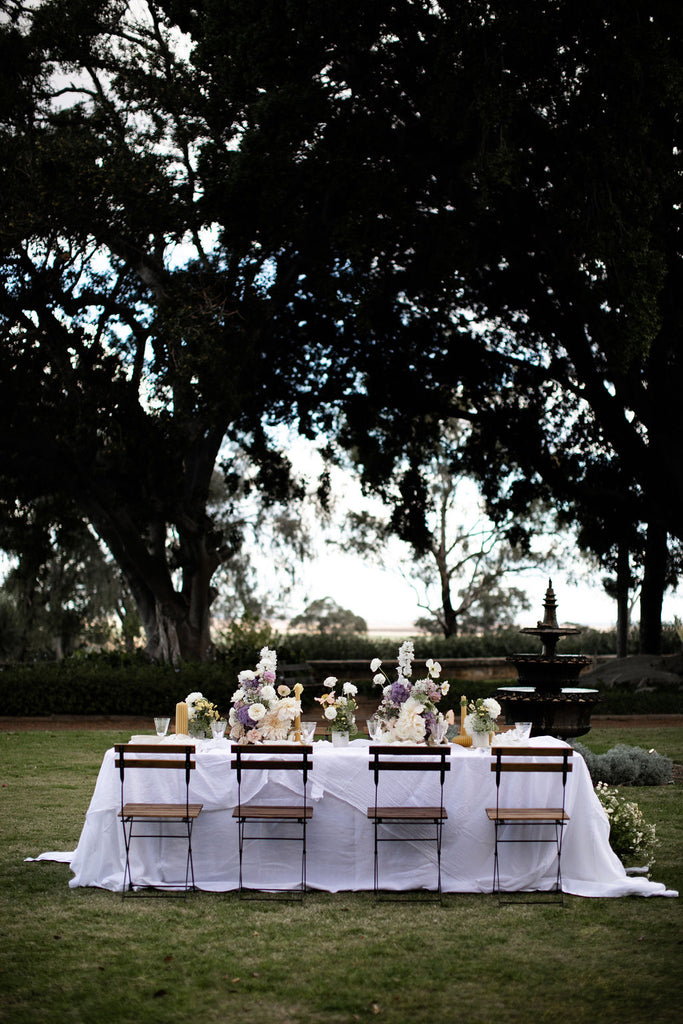 Pure French Linen white tablecloths