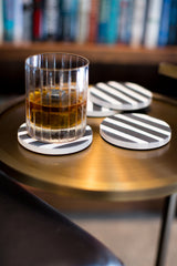 Black Stripes Coasters